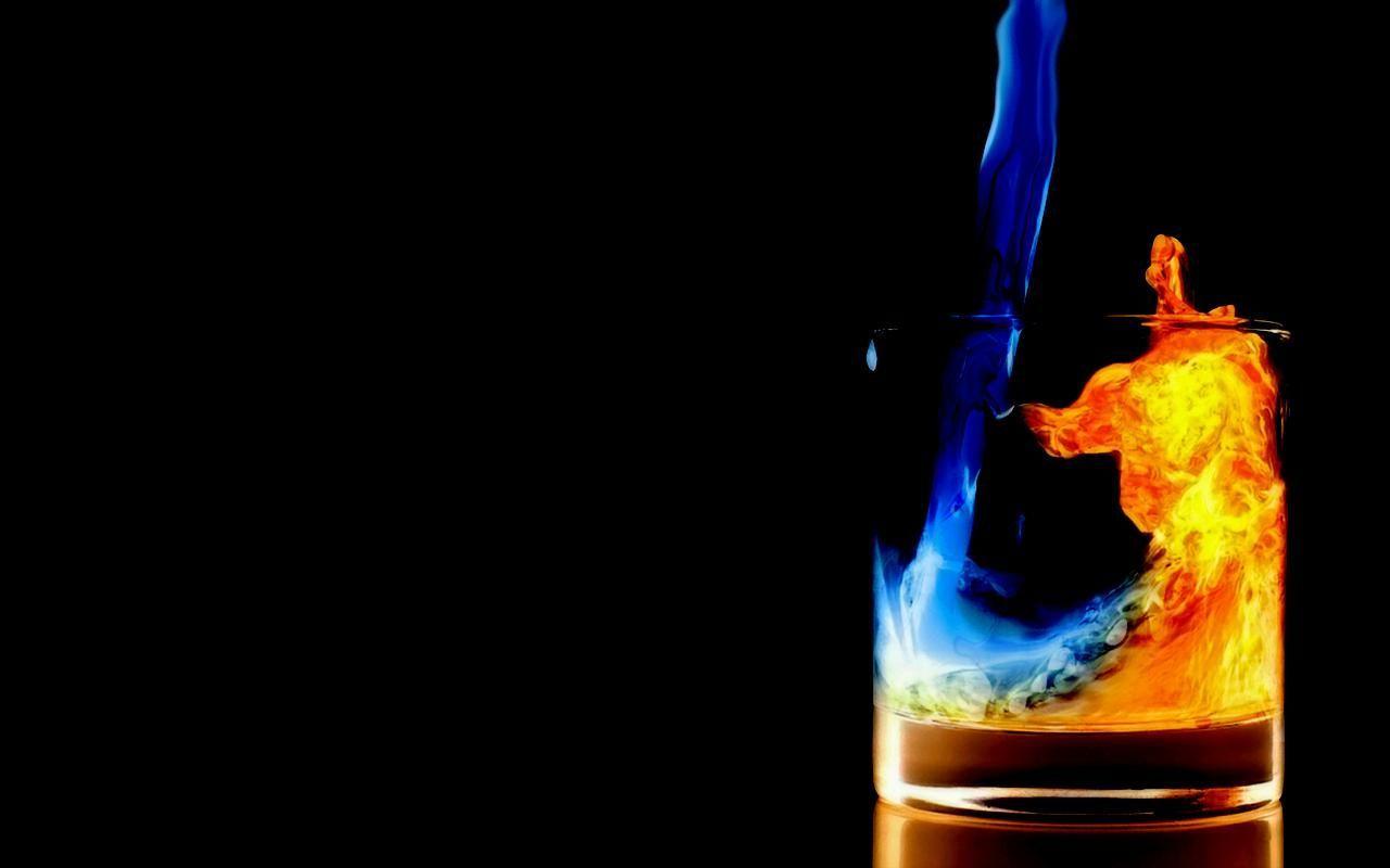 fire water glass